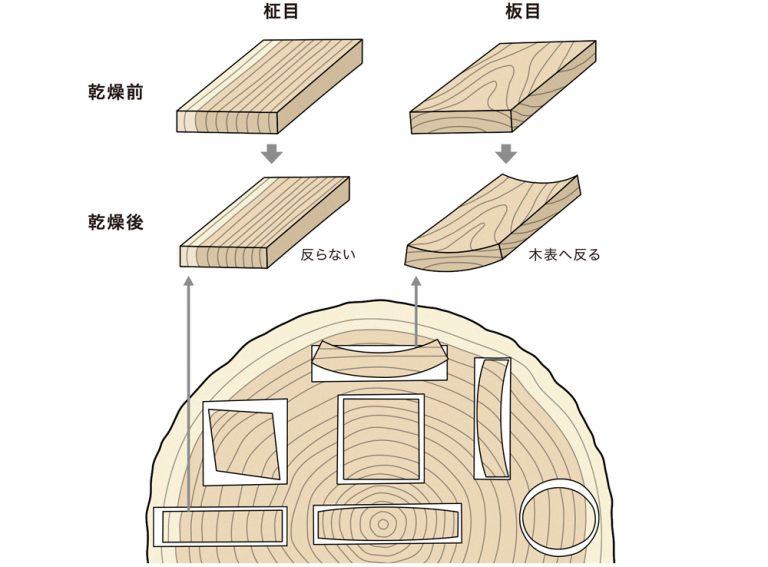 木材の変形